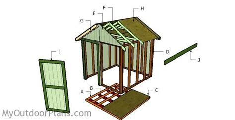 How To Build An 8x8 Shed by 25 Best Ideas About 8x8 Shed On Storage
