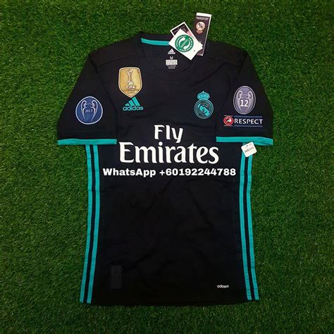Jersey Real Madrid Away Patch Chion 17 18 Grade Ori Official real madrid away jersey jersi 2017 end 7 12 2018 6 28 pm