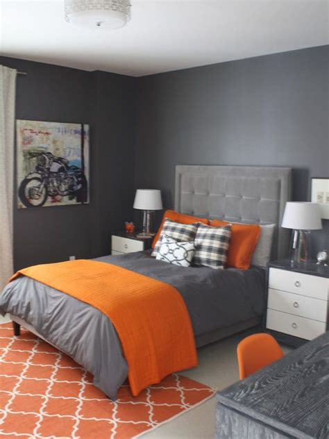 best 25 grey orange bedroom ideas on grey and orange living room boys bedroom