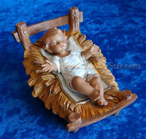 Jesus In Crib by Baby Jesus With Crib 12 Quot Scale Fontanini Nativity Holy Family 72913 P