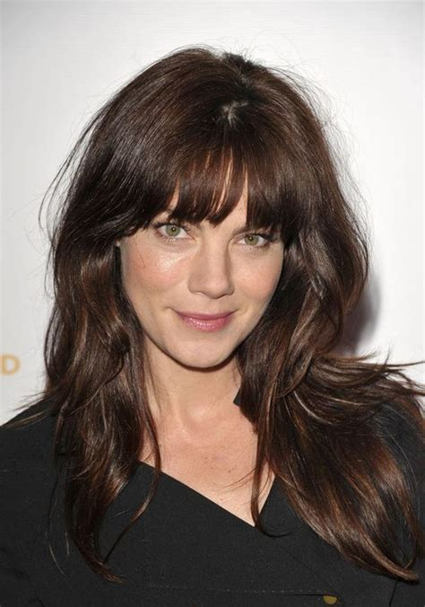 brunette long hairstyles with bangs long layered haircuts with bangs long layered hair in 2018