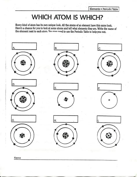 Which Atom Is Which Worksheet Answers by Answers To Drawing Atoms Worksheet Answers To Drawing