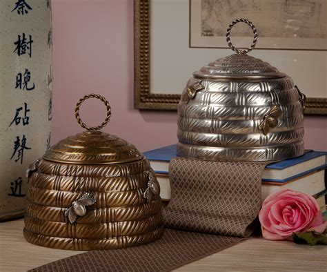 Beehive Decorations by Antique Silver Beehive Box Home Decor