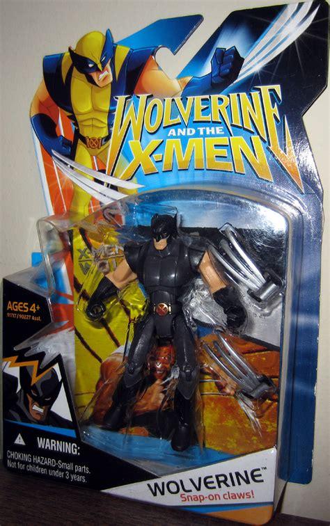figure x wolverine figure animated black suit hasbro