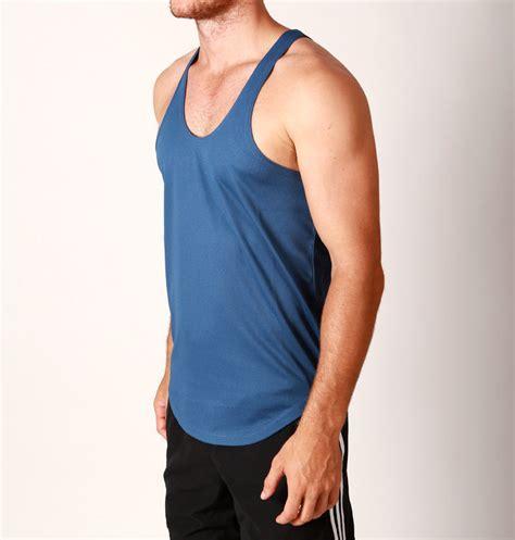 Singlet Sport Fitness mens poly y back sport fit lifting singlet bodybuilding stringer tank ebay
