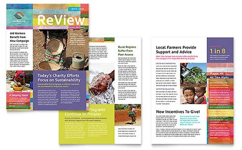 non profit newsletter templates word publisher