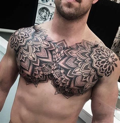 nice tattoos for men 75 chest ideas mandala tattoos tattoos