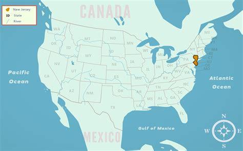 map us states new united states map new jersey swimnova