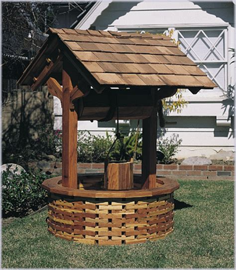 wood pattern for wishing well wishing well plan no 371 outdoor plans projects and