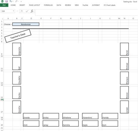 horseshoe classroom layout advantages classroom seating layout spreadsheet spreadsheetsolving