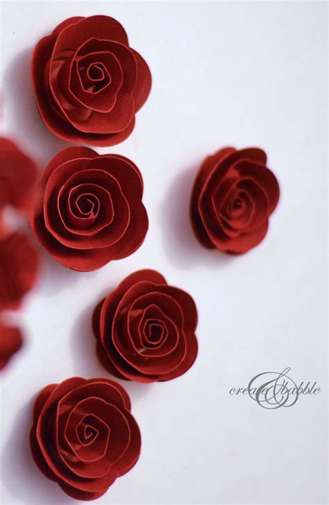 How To Make Small Roses With Paper - rolled paper roses tree create and babble