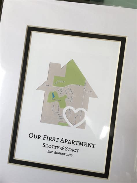 gifts for first apartment our first apartment personalized map gift first place gift