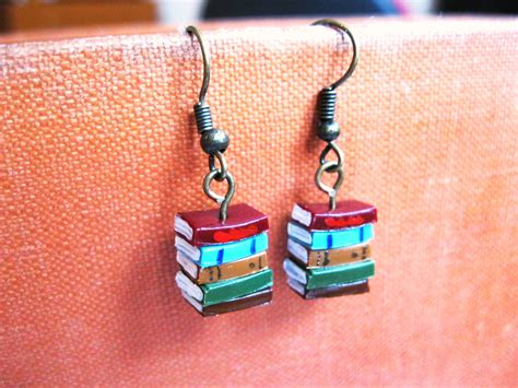 stack of books earrings sonya s stuff