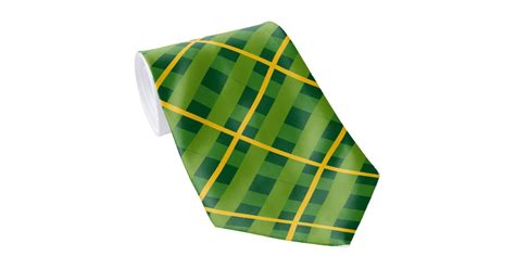 green and gold plaid tie zazzle