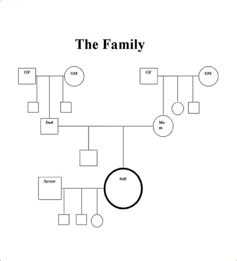 genogram templates genopro 11 family 28 images 78