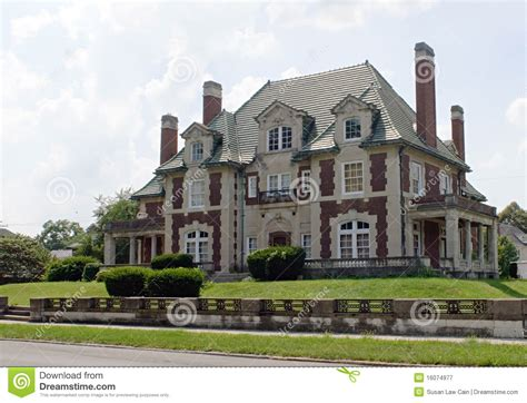 Chateauesque House Plans by Massive Vintage Estate Royalty Free Stock Photography