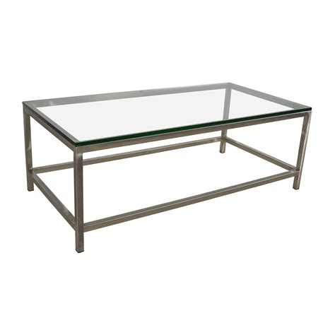 Square Or Rectangle Coffee Table 64 Crate And Barrel Crate Barrel Era Rectangular Glass Top Coffee Table Tables