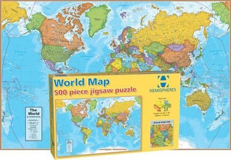 Printable Jigsaw Map Of The World | world map children s puzzles puzzlewarehouse com
