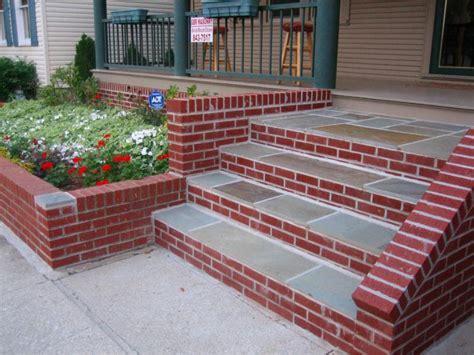 bluestone brick front entrance steps masonry patios gbr masonry inc patios and steps