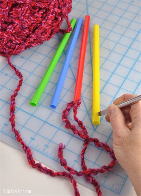 how to make knitting needles easy knitting with big straws for