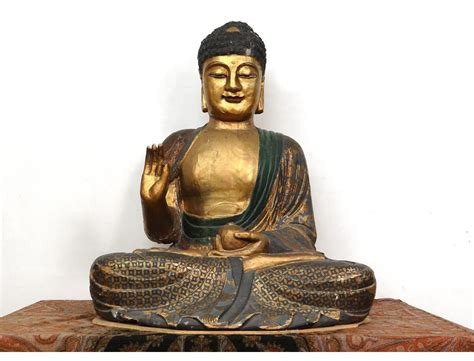 Lamps And Chandeliers Grande Sculpture Statue Bouddha Indon 233 Sie Bouddhisme Bois