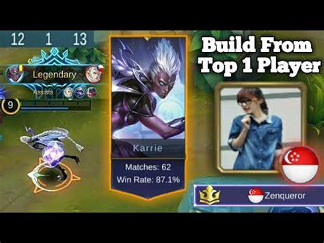 karie mobile legend mobile legends karrie top 1 build karrie ranked carry