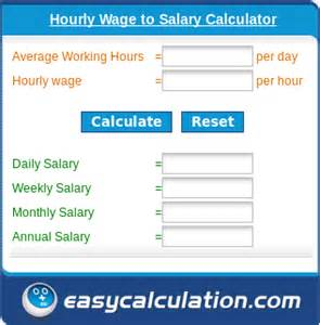 monthly salary calculator from annual