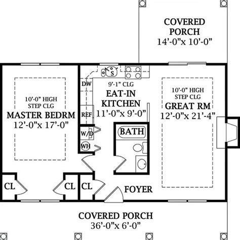 one bedroom cottage floor plans country cottage 1 6644 1 bedroom and 1 5 baths the house designers