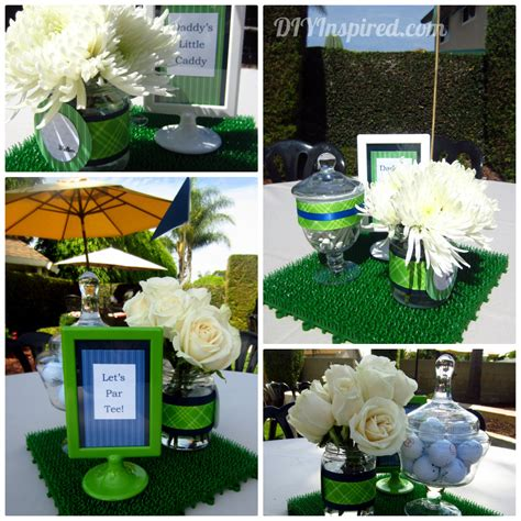 themed baby shower decorations golf themed baby shower ideas table decorations baby