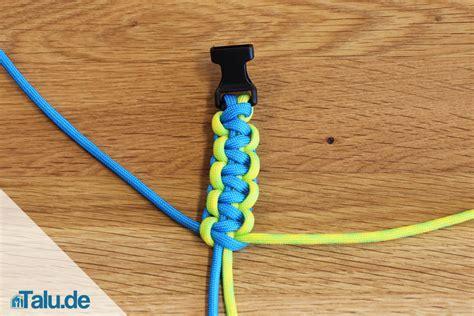 seil flechten anleitung paracord armband selber machen diy anleitung zum