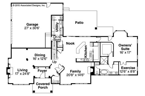 traditional house floor plan traditional house plans masonville 30 935 associated designs