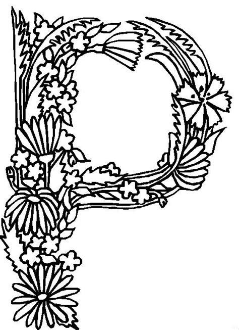 coloring book for a p kleurplaten en zo 187 kleurplaten alfabet bloemen