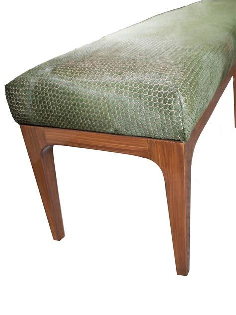 cowhide bench modern mid century modern laser cut cowhide hair upholstered