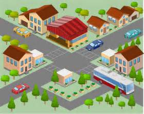Neighborhood Clipart directional maps solution conceptdraw