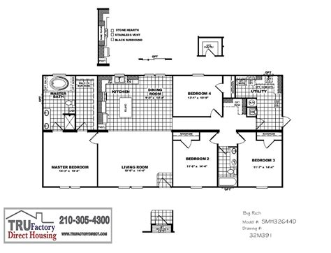 Cmh Schult Big Rich Mod Tru Factory Direct Tru Manufactured Homes Floor Plans