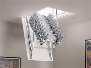 hidden retractable aluminium attic ladder rooftop patio greenroof livingwall pinterest