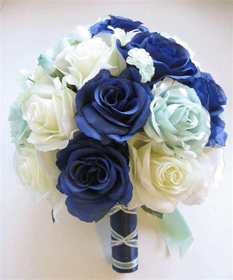Wedding Bouquet Bridal Silk flower Decoration 17 pieces