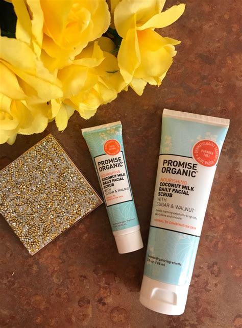 Scrub Milk Coconut promise organic skincare affordable better for you