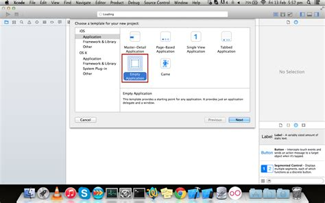 ios how to create an empty application in xcode 6