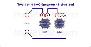 subwoofer wiring diagrams two 4 ohm single voice coil