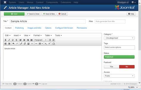 joomla tutorial article manager joomla 3 creating articles code steps