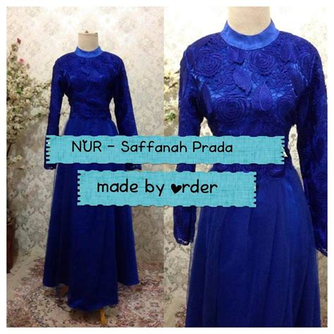 Gks1302 Gamis Jumbo Syari Renda Brukat saffanah prada gown galeri ayesha jual baju pesta modern syar i dan stylish untuk keluarga