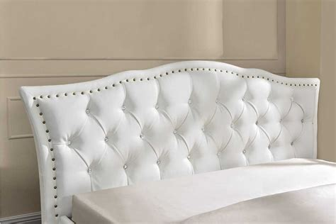 bed with diamante headboard georgio diamante crystal italian designer bed frame white