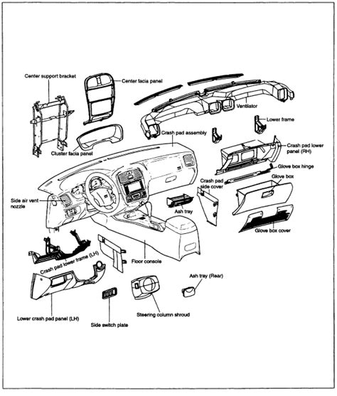 How To Remove Dash From A 2000 Hyundai Sonata Service