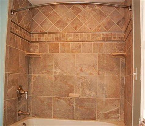 Bathtub Shower Curtain Surround by Tile Tub Surround Uses Four Tile Types Bathroom Ideas
