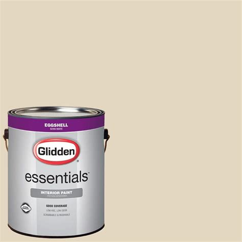 glidden duo 1 gal gln32 navajo sand eggshell interior paint with primer gln32 01e the home depot