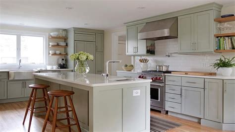 Green And White Kitchen Cabinets Green Kitchen Accessories Green Kitchen Walls Green Kitchens With White Cabinets