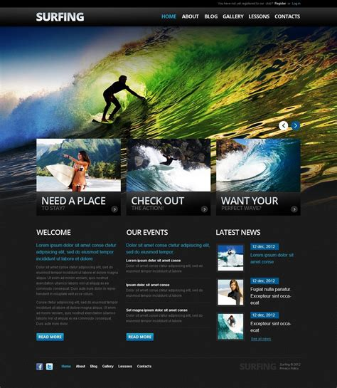 drupal themes photo gallery surfing drupal template 38132