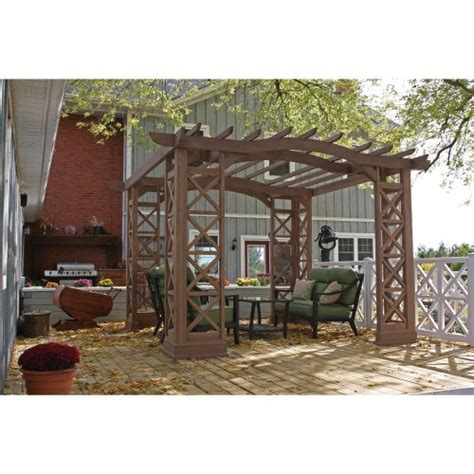 Cheap Yardistry Arched Roof Pergola Gazebos With Plinth Inexpensive Pergola Kits