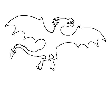 printable dragon templates flying dragon pattern use the printable outline for